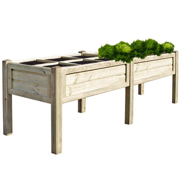 potager sur lev rectangle double 100 x 290 cm boutique aquaponie. Black Bedroom Furniture Sets. Home Design Ideas